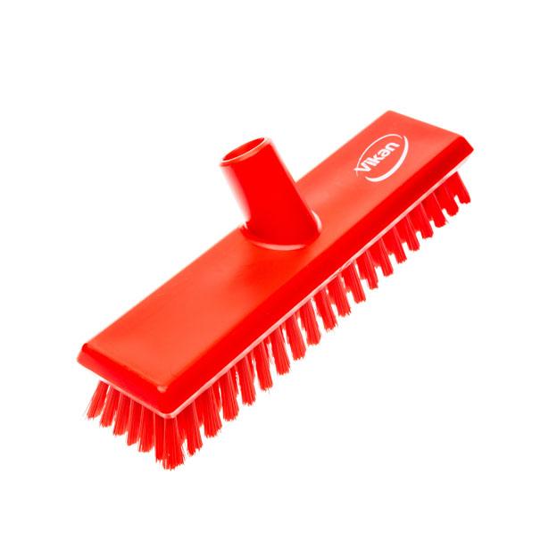 Bodenschrubber mit Wasserdurchlauf rot